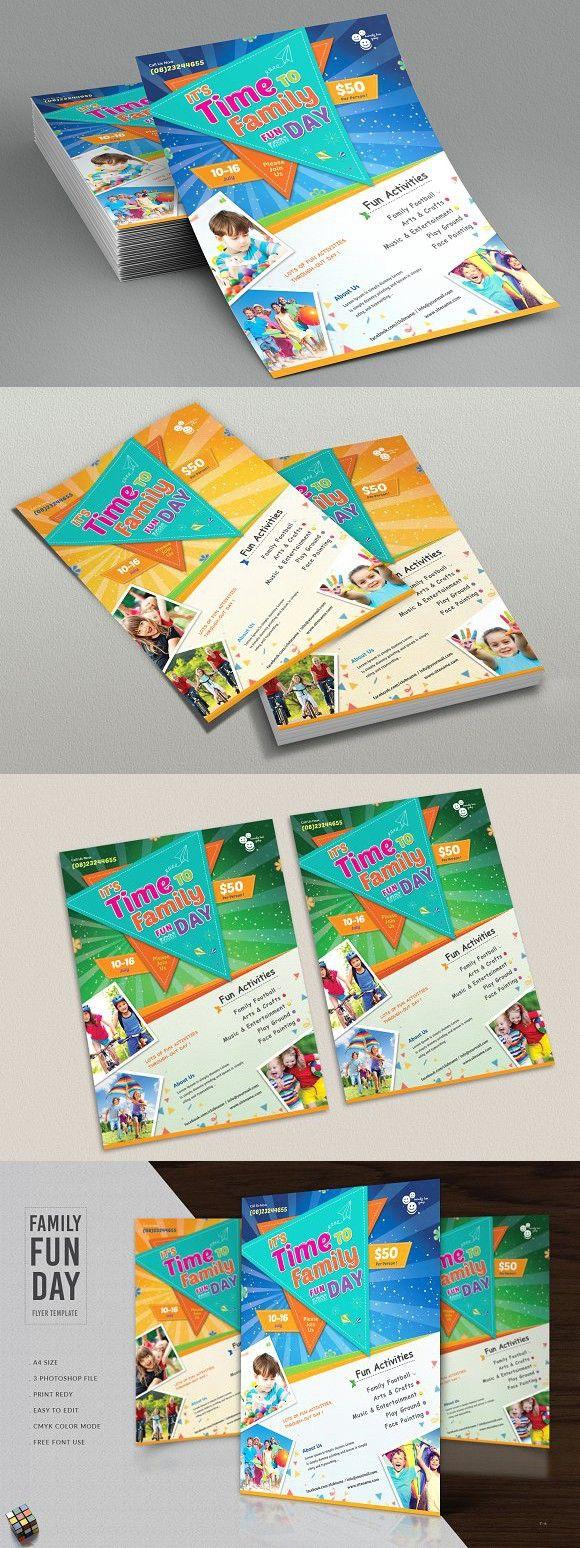 family fun day flyer template festival design pinterest flyer