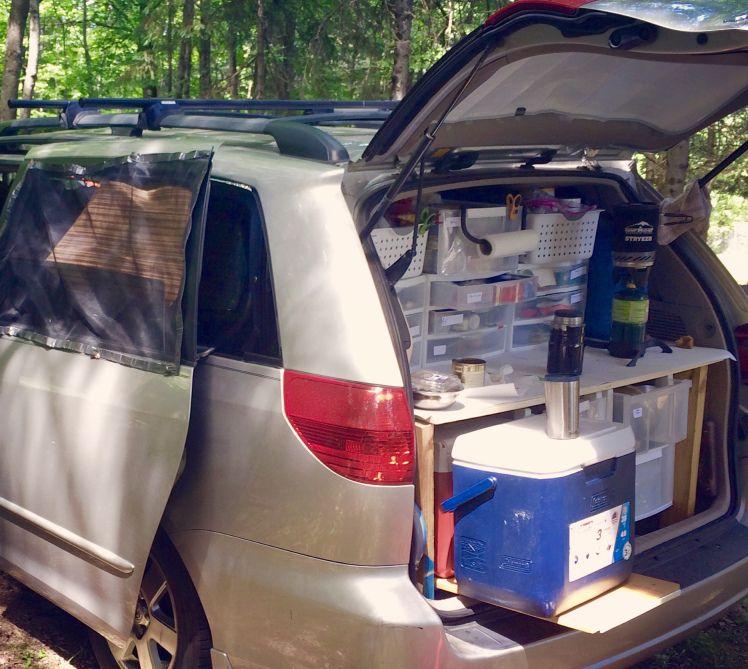 the kitchen of the minivan camper minivan camper harvey