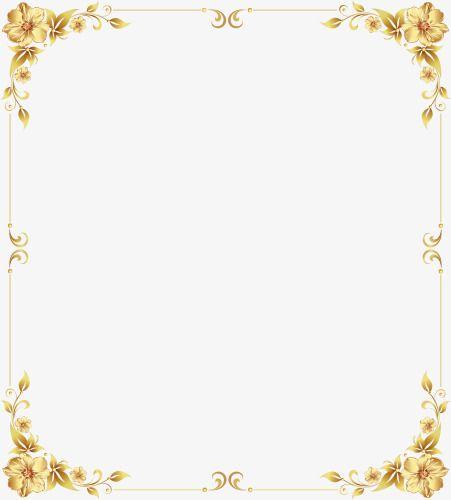 Gold Shading Gold Border Gold Frame Gold Clipart