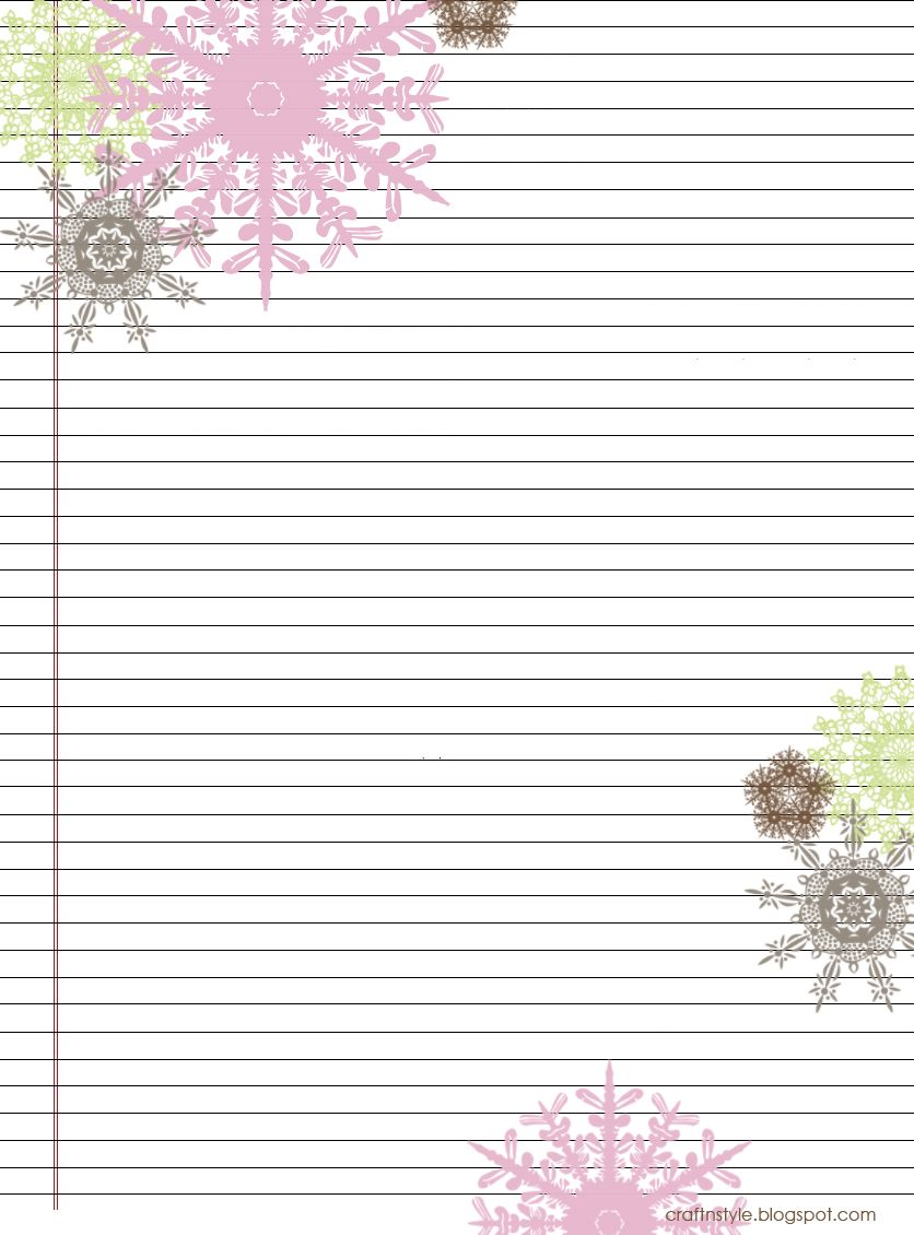 Effortless image throughout printable stationery