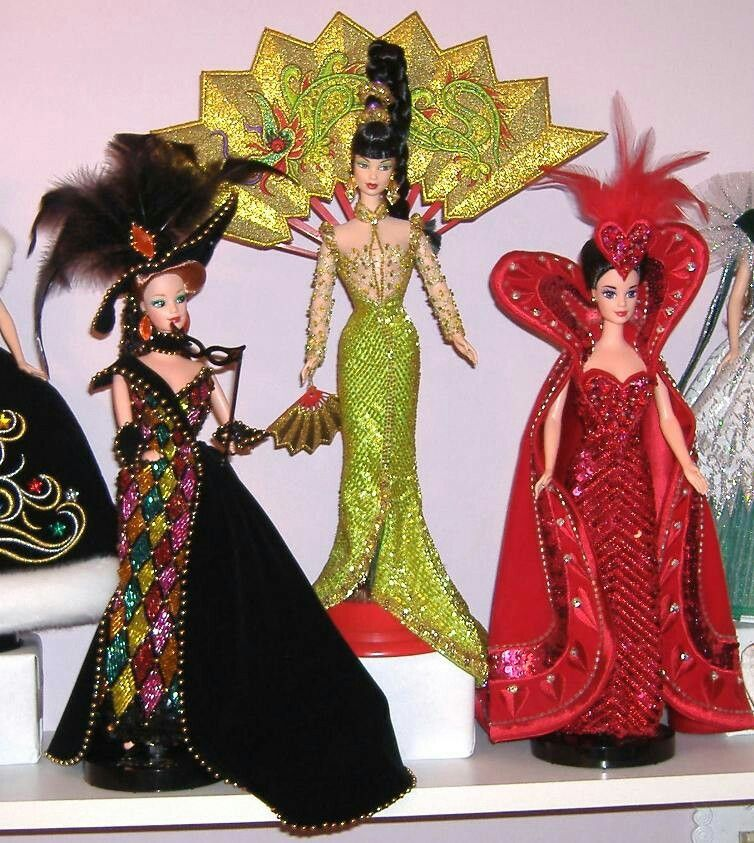 Lisa's Barbie's - Bob Mackie designs.