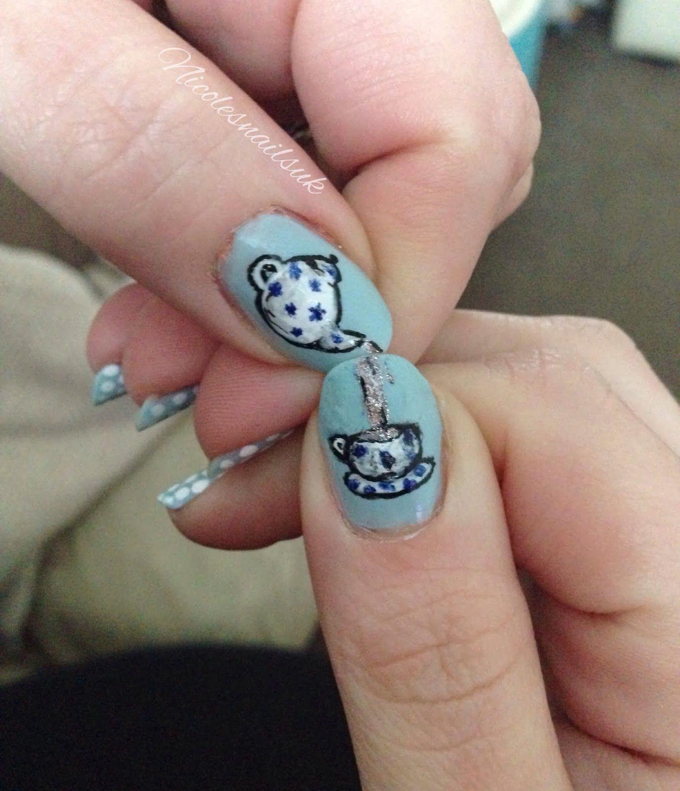 Nails Nail Art Teapot Teacup Nicolesnailsukspot Nail