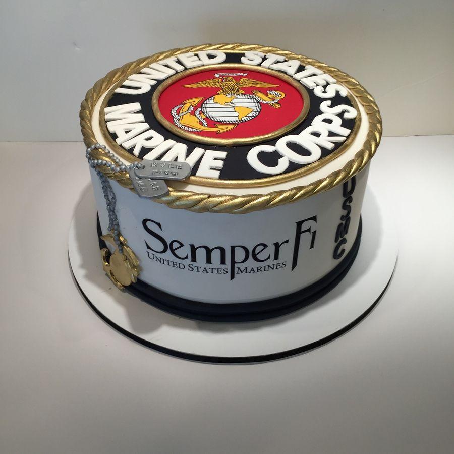 United States Marine Corp Cake With Images Marine Corps Cake