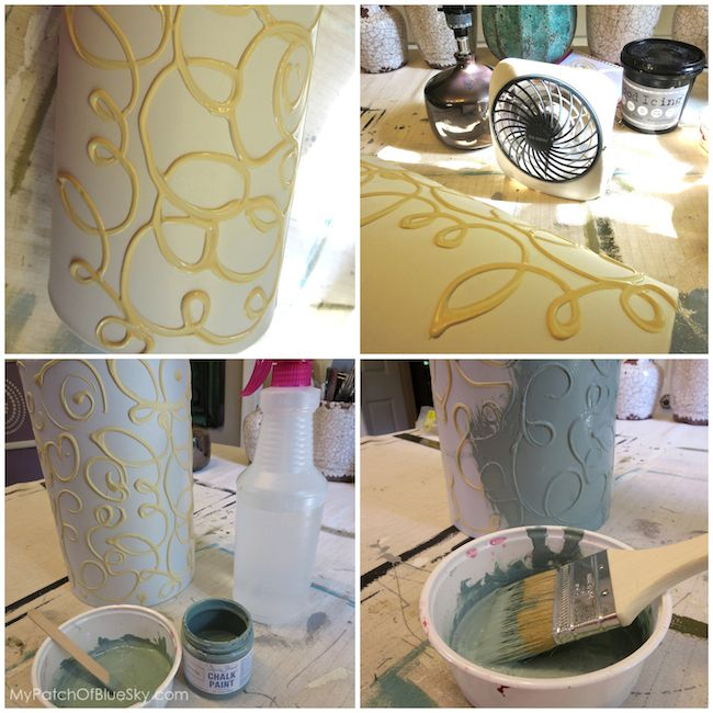 Add a hand painted raised pattern to a lamp shade using textura hometalk add a hand painted raised pattern to a lamp shade using textura paste aloadofball Gallery