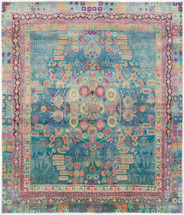 """Bathroom Rugs Persian: Silk Ethos 5'0""""x6'3"""": Ethos Oriental Rugs Runner Rugs"""