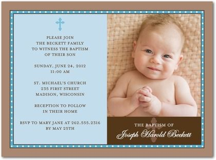 Baptism Invitations Verses and Wording | Baptism invitations ...