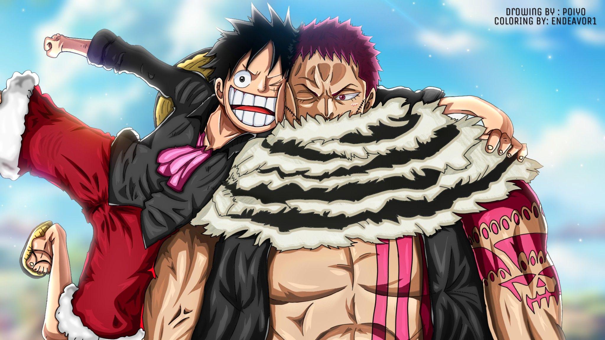 Luffy & Katakuri   One piece luffy, One piece manga, One piece anime