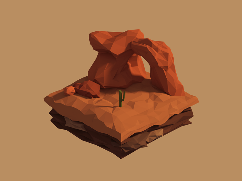 Low Poly Piece Of Mesa