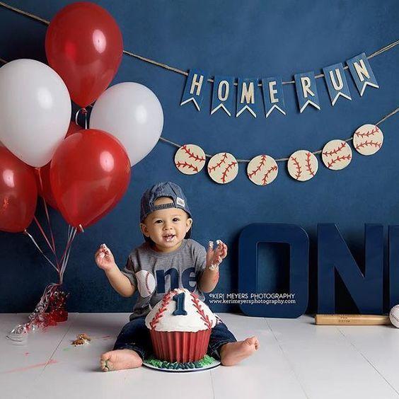 Phoenix Baby Photographer Peoria Baby Photographer One Year Photo Ideas Baseball Theme One Year P Baseball Theme Birthday 1st Boy Birthday Baby Boy Birthday