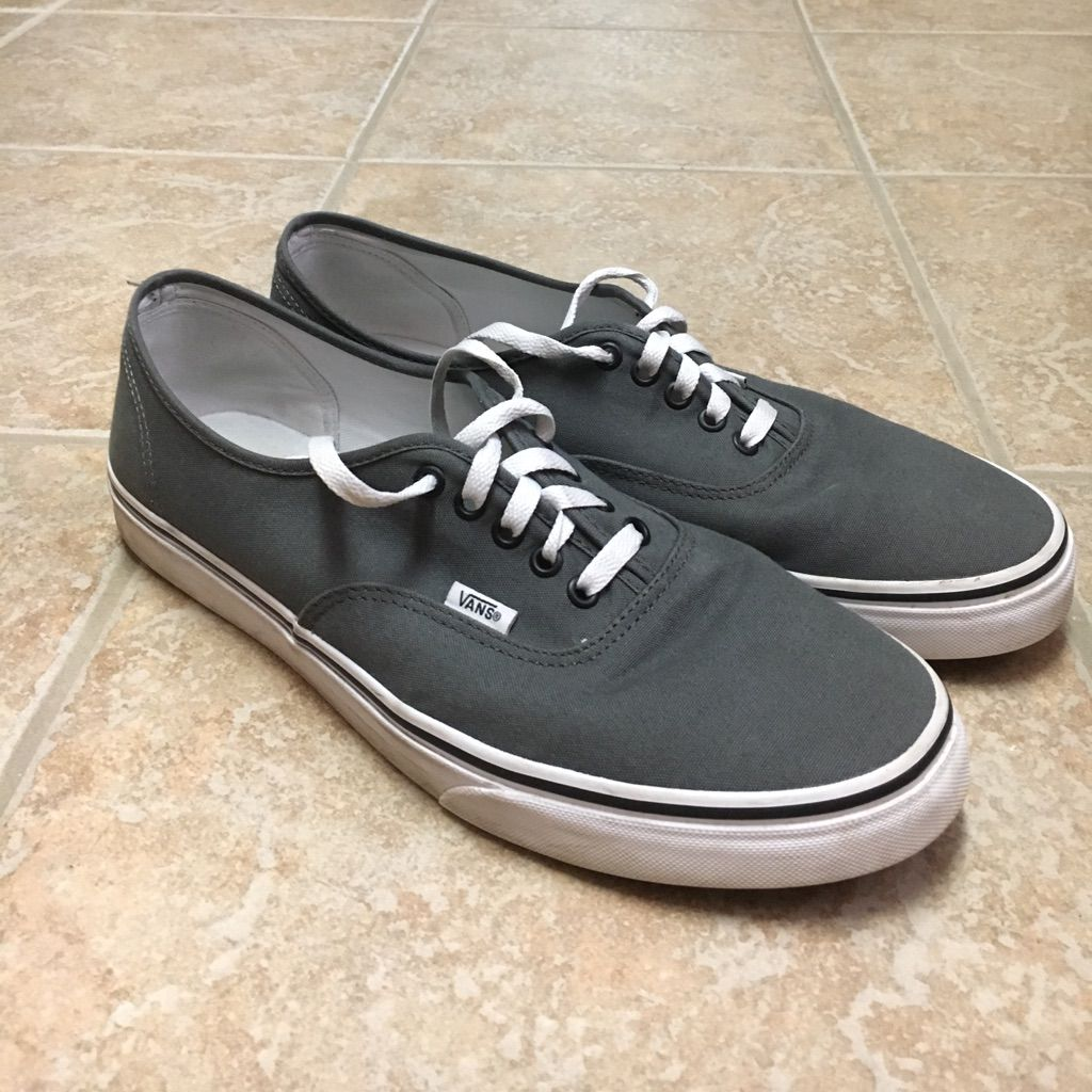 Vans Shoes | Pewter Grey Authentic Vans Sz13 | Color: Black