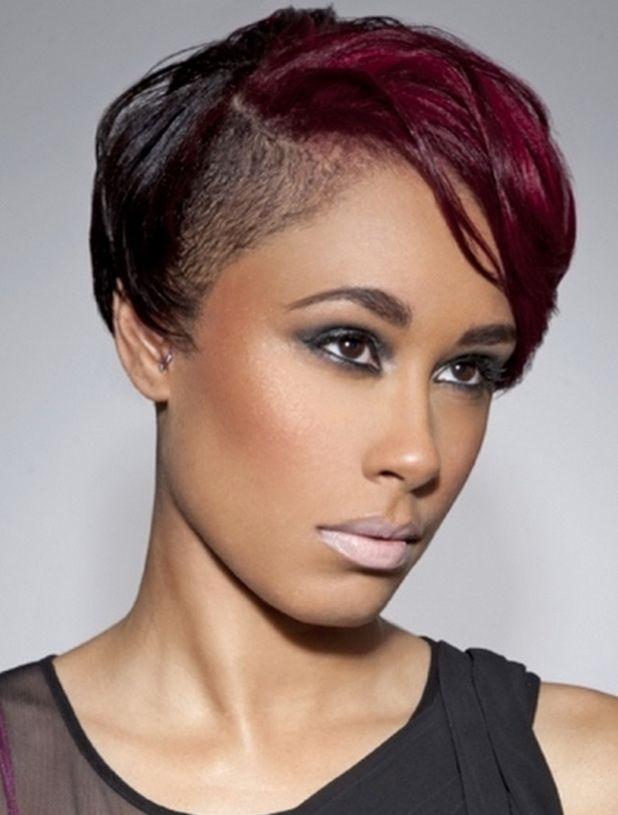 Short Hairstyles For Black Women Shaved Side Hairstyles Short Hair Styles African American Womens Hairstyles