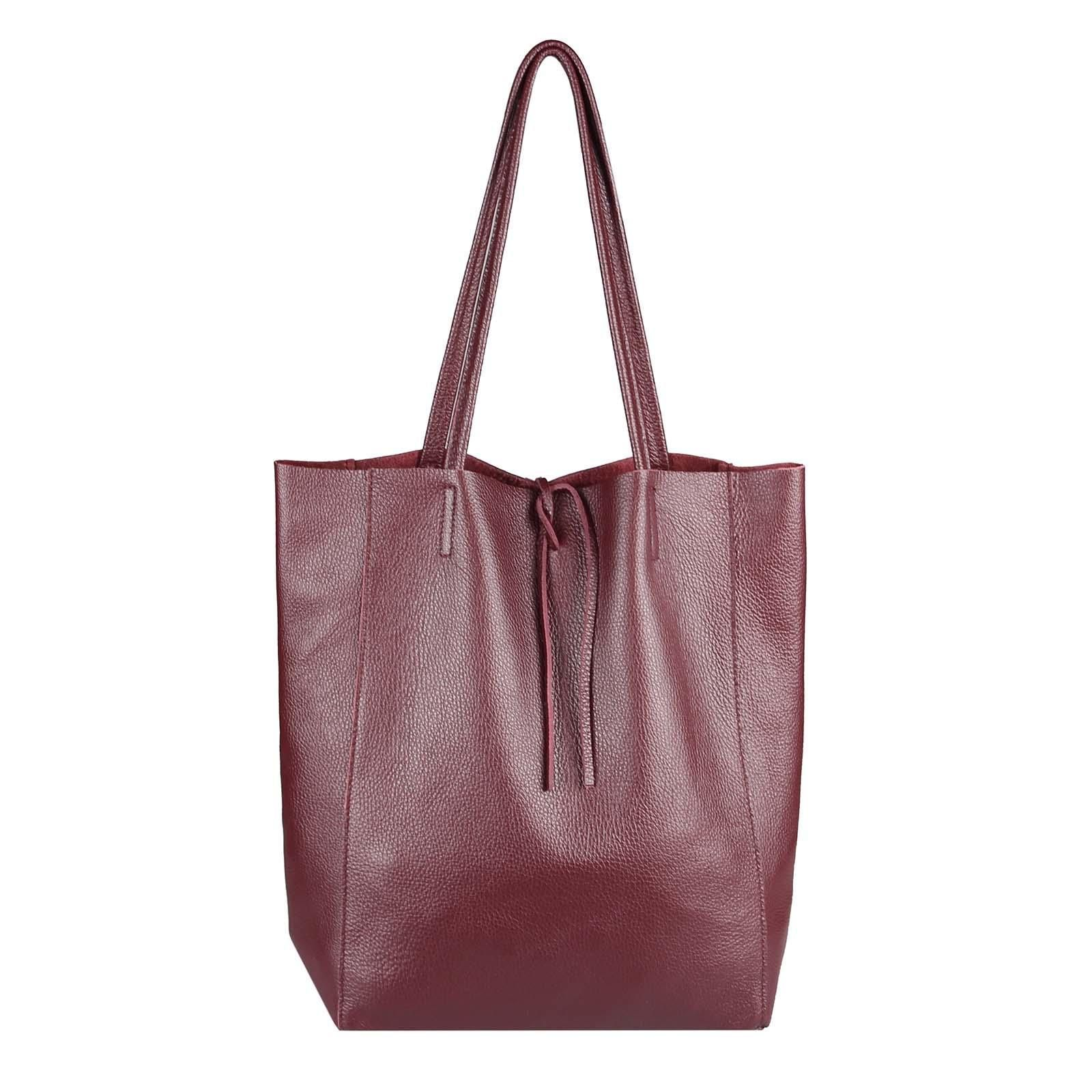 Obc Made In Italy Damen Leder Tasche Din A4 Shopper Schultertasche Henkeltasche Tote Bag M Metallic Tote Bags Leather Bag Women Vintage Leather Messenger Bag