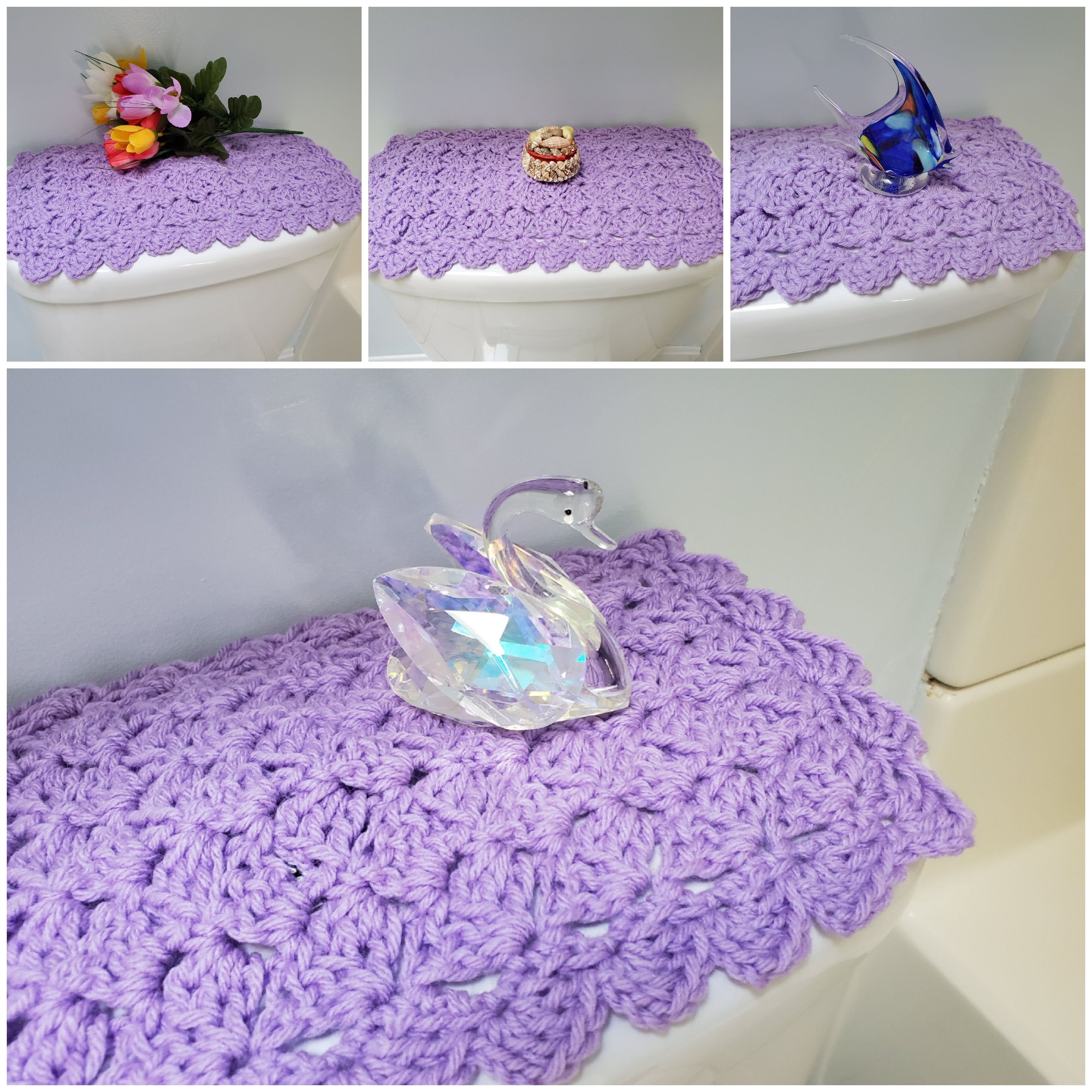 Toilet Tank Topper Crochet Toilet Tank Topper Bathroom Decor Lilac Ttt1j Crafts To Make And Sell Crafts To Make Yarn Bombing