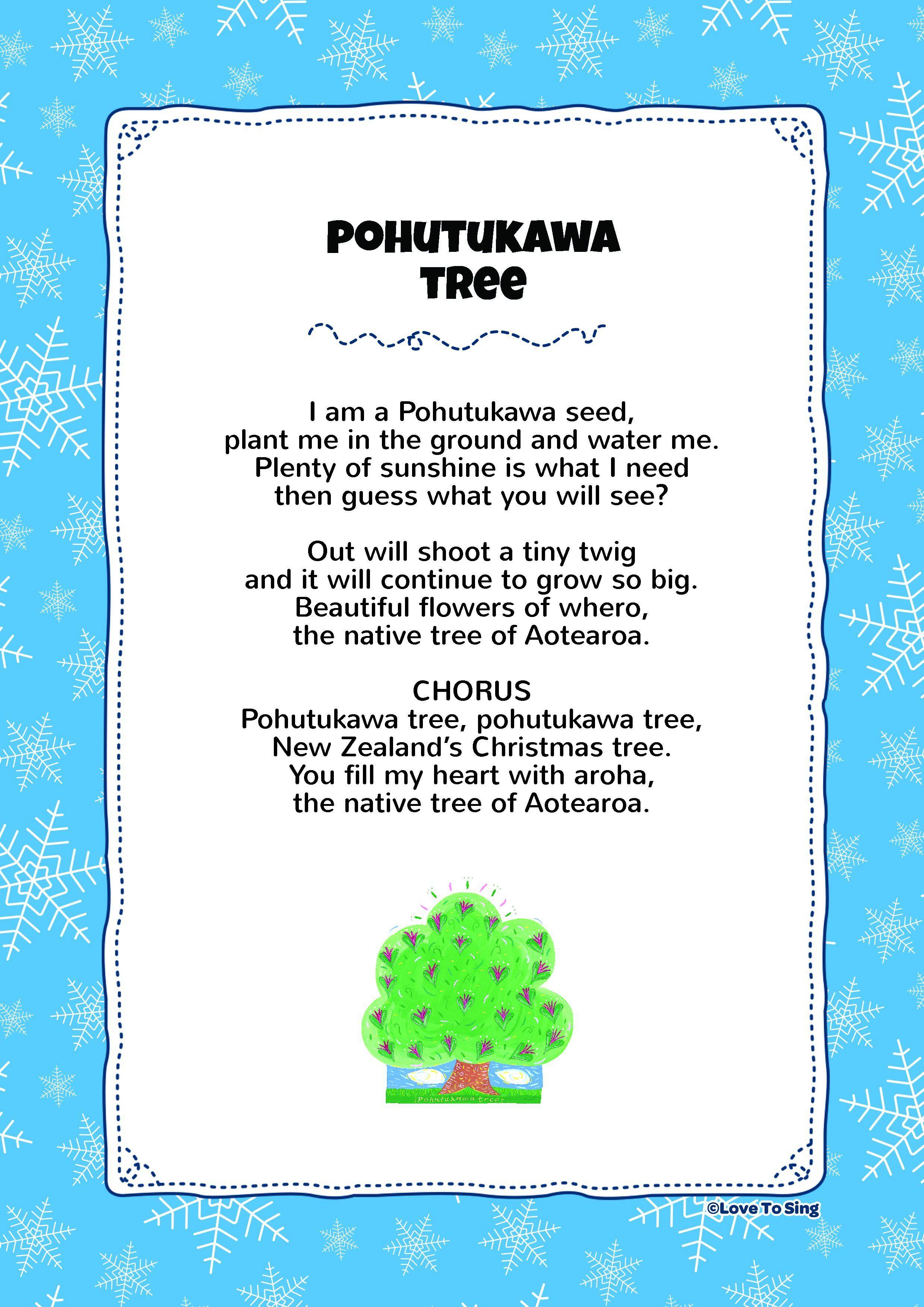 Pohutukawa Tree Kids video songs, Christmas songs for