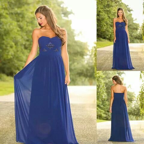 Baby blue long dress with strapless glitter