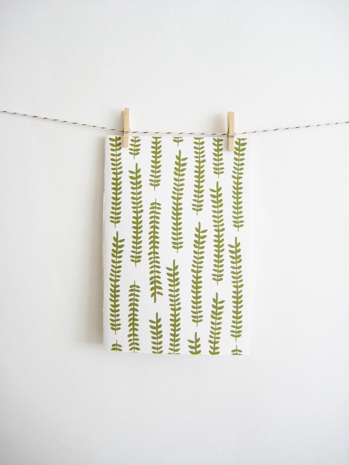 Patterned Notebook with Ferns
