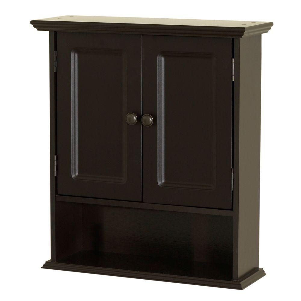 Zenna Home Collette 21 1 2 In W X 24 H 7 D Bathroom Storage Wall Cabinet Espresso 9918cha The Depot