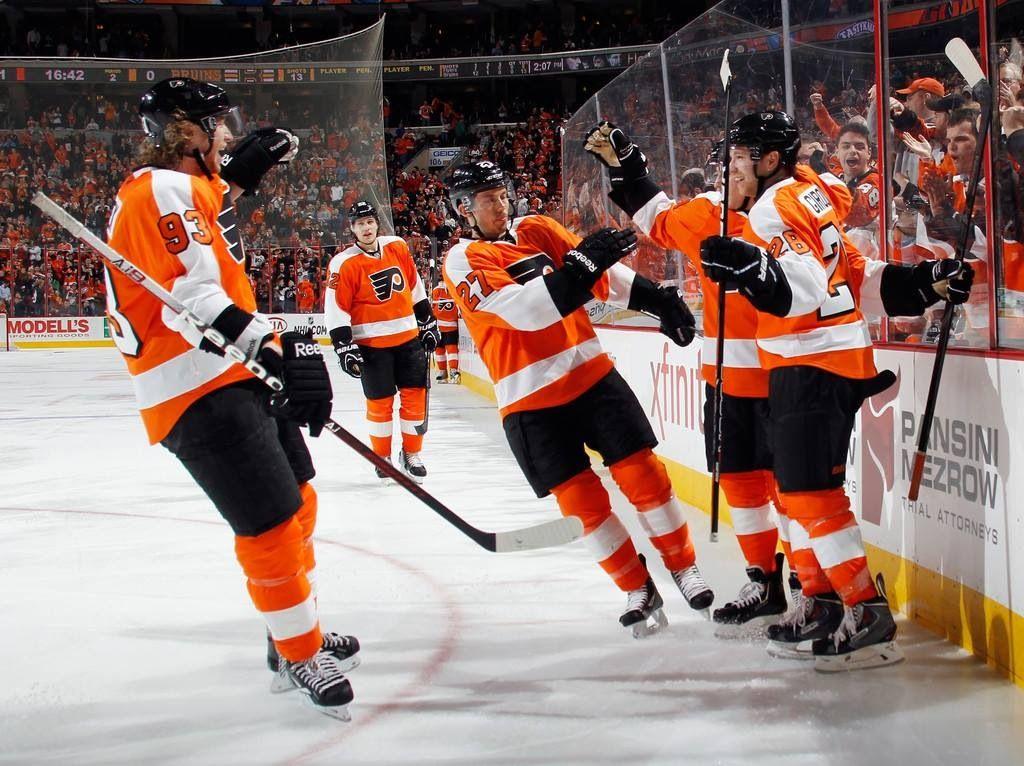 A goal celebration Sports fonts, Flyers hockey
