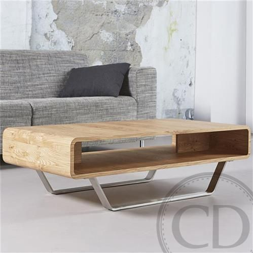 Table Basse Scandinave En Chene Naturel Pieds Inox Warm Table Basse Design En Bois Chene Naturel Avec Niche I Table Basse Moderne Table Basse Table De Salon