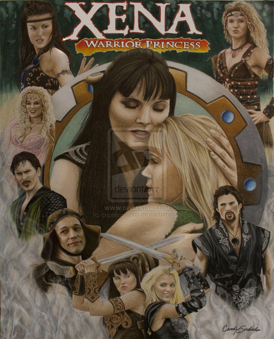Xena Warrior Princess: Cast Artwork by captaincaliena | Xena