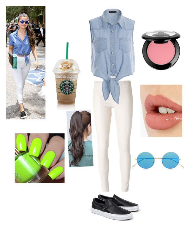 """""""Inspired by Selena Gomez street fashion"""" by mayyoung on Polyvore featuring MM6 Maison Margiela, Vans, Charlotte Tilbury, NYX and Illesteva"""