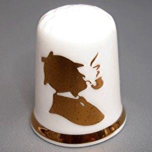 Porcelain Thimble Sherlock Holmes