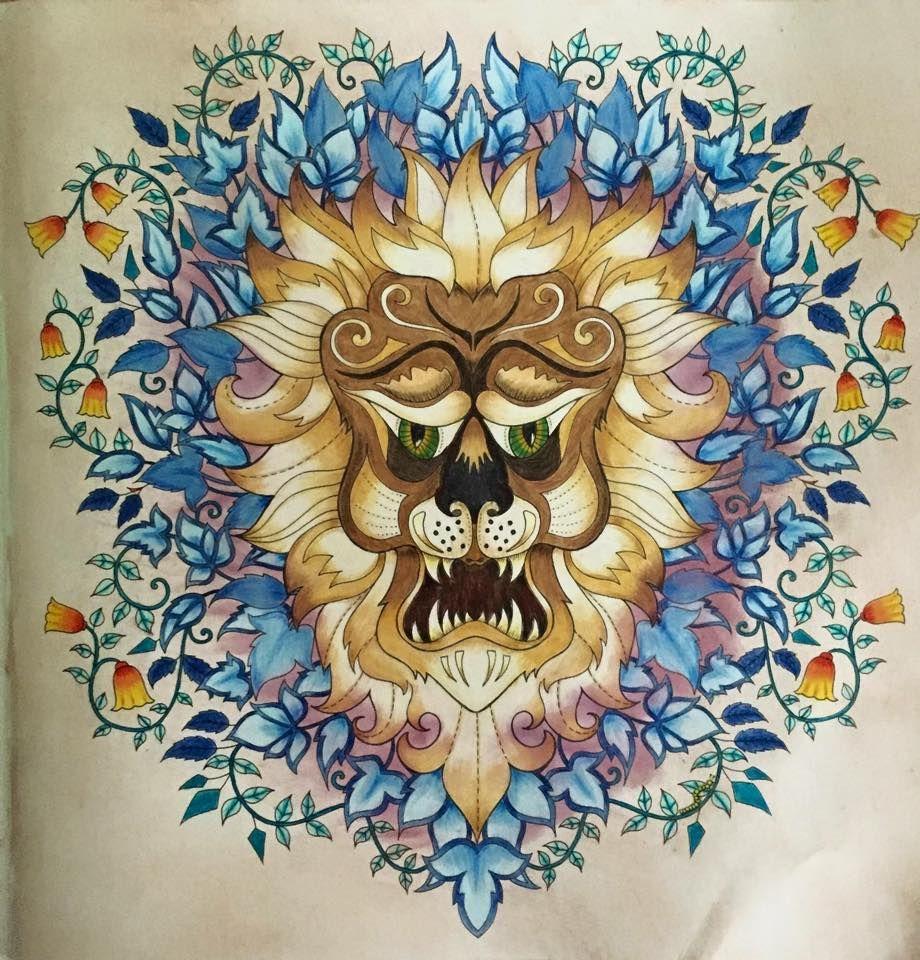 Lion enchanted forest | A Cool Crazy COLORING | Pinterest | Colorear ...