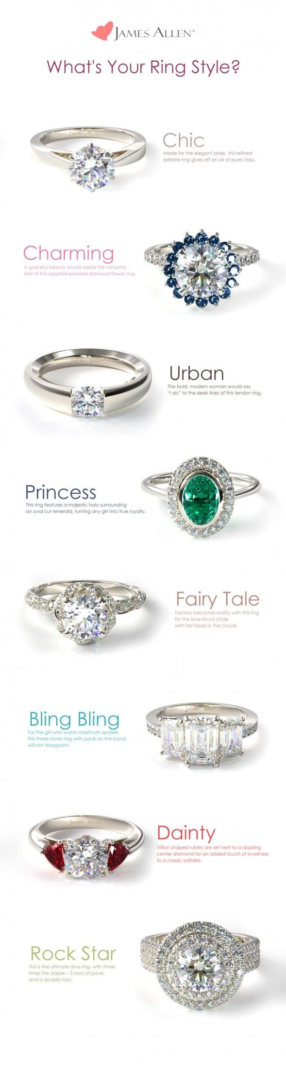What S Your Ring Style Jamesallen Com Fashion Food Fun