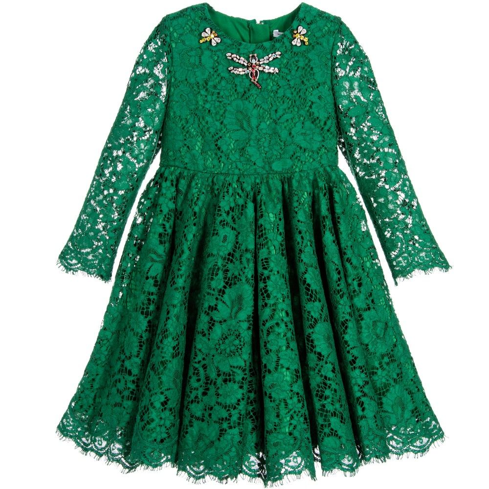 Green dress with lace overlay  Green Lace Dress with Jewelled Insects  Pinterest  Green lace
