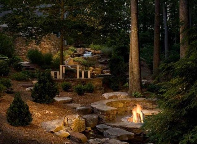 Woodland Garden Backyard Landscaping Ju0027Nell Bryson Landscape Architecture  Charlotte, ... Design Inspirations