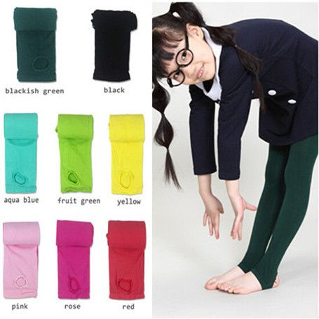 03daf8aa6d4 1pc 2015 children spring autumn tights for warm 120D velvet pantyhose kids  girls stepping foot tights dancing 14 candy colors