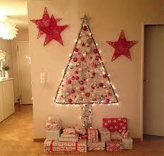 Resultado De Imagen De Arboles De Navidad De Pared Wall Christmas Tree Easy Christmas Decorations Diy Christmas Tree