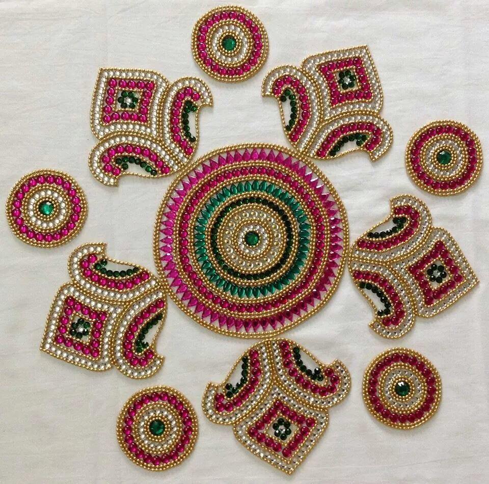 Diwali decoration craft pinterest diwali decorations for Home made rangoli designs