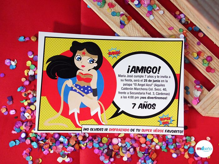 Wonder Woman Invitation