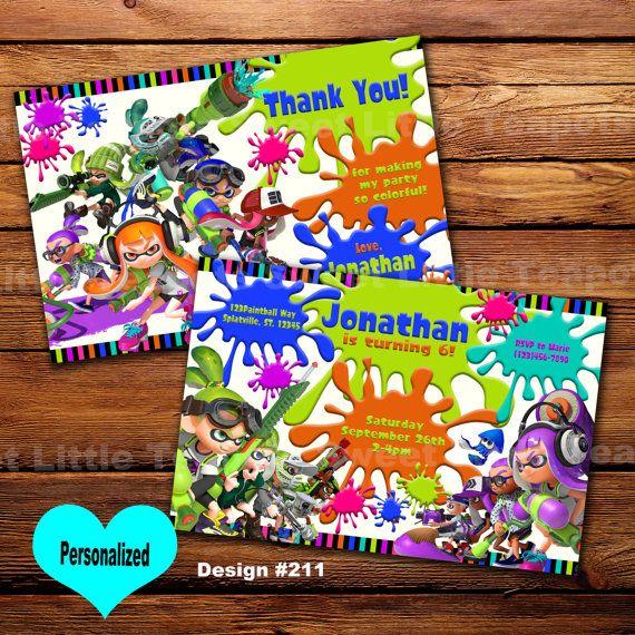 splatoon invitation printablesplatoon by sweetlittleteapots