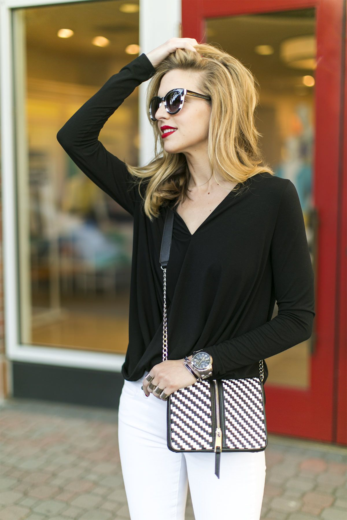 A classic black and white look is always in style for the office ... 3ae1ba919d5
