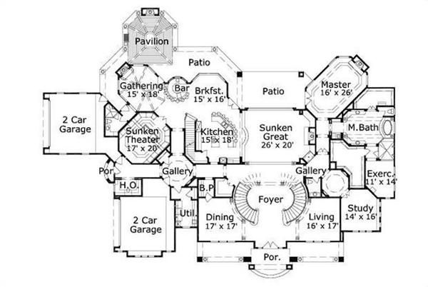 Best Study And Dining Off Foyer Round Spiral Grand Staircase 640 x 480