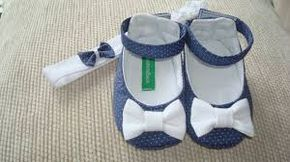 Resultado de imagem para moldes de sapatos de bebe em pano em tamanho natural
