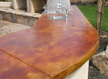 Concrete Countertop Stained Acid Stain | Top Features A Saddle .