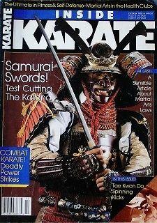 RARE 10/88 INSIDE KARATE KATANA SAMURAI SWORDSTAMASHI-GIRA KUNG FU MARTIAL ARTS