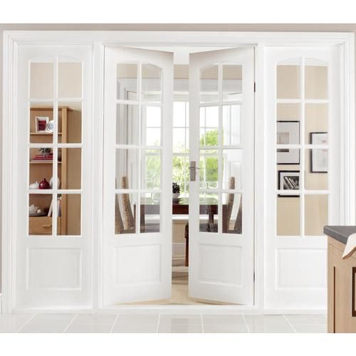 Doors Through To Kitchen 8 Panel Interior Gl White French