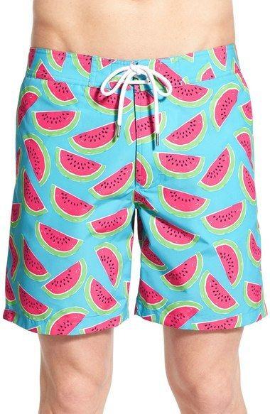 29a681c332 Bonobos Watermelon Print Board Shorts Watermelon Float, Men's Swimsuits, Men's  Swimwear, Swimsuit With