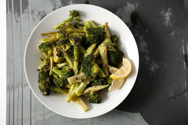 Roasted broccoli bagna cauda asian