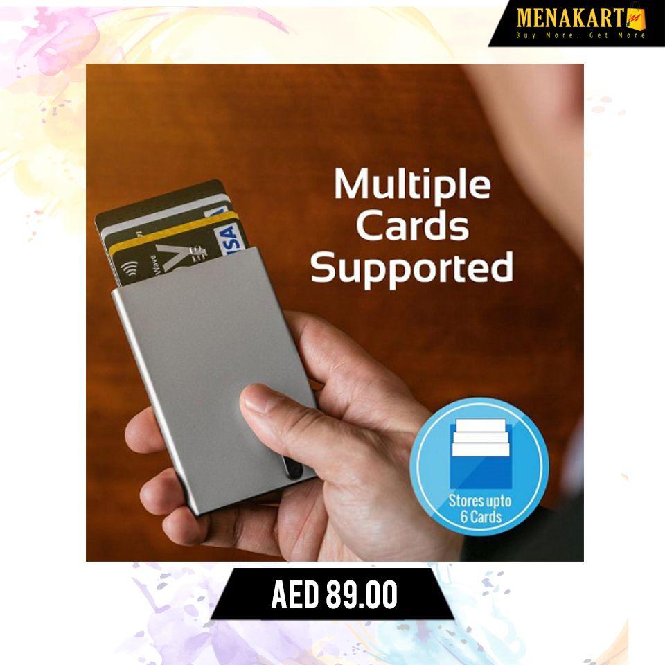 1fd0d2be4c94 Promate RFID Safe Card Case, Rfid Blocking Credit ID Card Holder Aluminium  Wallet Case #RFIDBlockingWallets #RFIDProtected #BifoldWallets #online  #shopping