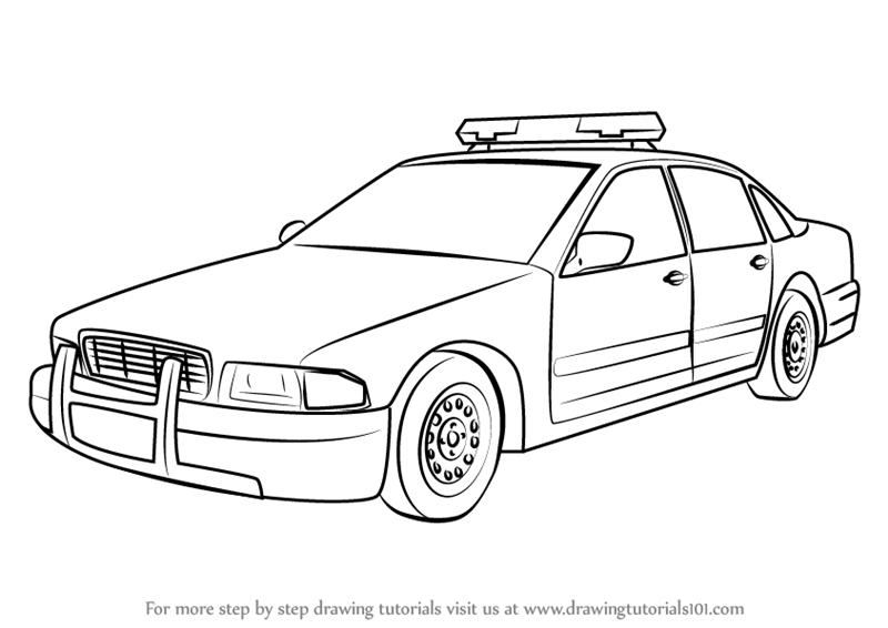 10+ Police Car Black And White Clipart