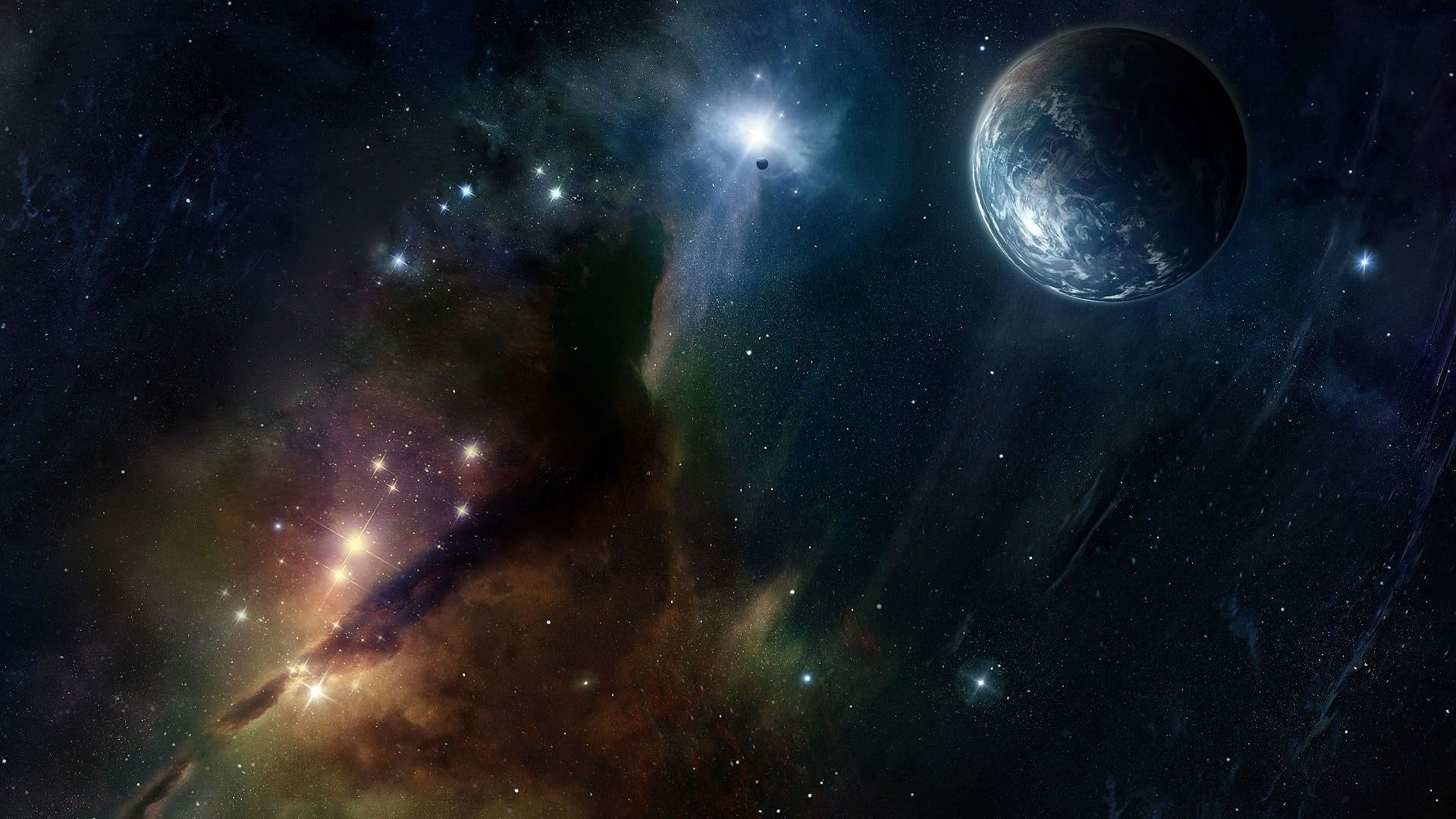Out In Space Computer Background