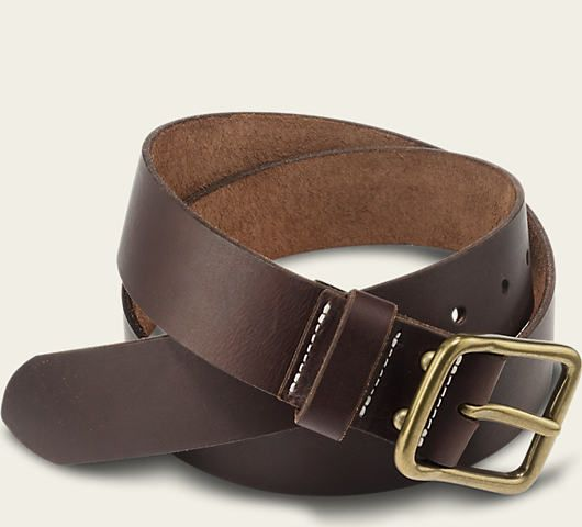 RED WING: Amber Pioneer Leather Belt product photo | Red