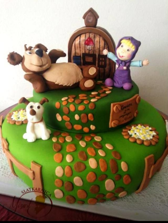 masha and bear cake Cakes Pinterest Bear cakes Cake and Cake
