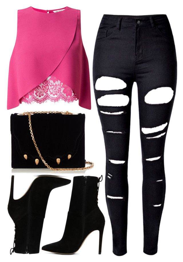 """1242."" by asoul4 ❤ liked on Polyvore featuring WithChic, Miss Selfridge, Marco de Vincenzo and ALDO"