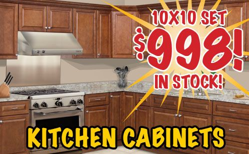 998 10x10 kitchen cabinet set chestnut series from door for Cheap kitchen cabinets in houston